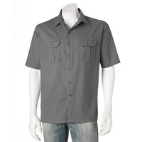 Solid Poplin Casual Button-Down Shirt