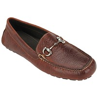 Men's Laramie Bit Loafer in Walnut Bison Leather by Country Club Prep