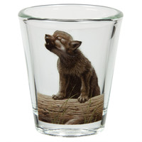 Wolf Portrait Shot Glass