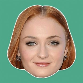 Sexy Sophie Turner Mask - Perfect for Halloween, Costume Party Mask, Masquerades, Parties, Festivals, Concerts - Jumbo Size Waterproof Laminated Mask