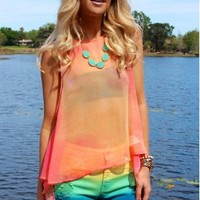 Chiffon Sunrise Top