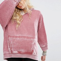 Free People Get It Distressed Oversized Hoodie at asos.com
