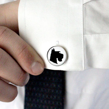 Dog Silhouette Cufflinks - Custom Dog Breed Cameo