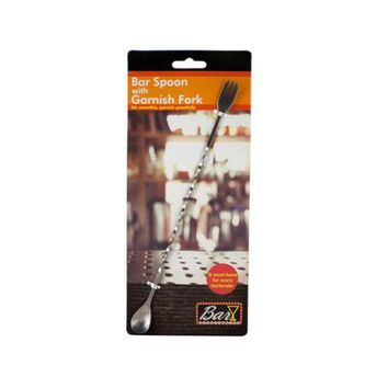 Bar Spoon with Garnish Fork ( Case of 20 )