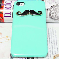 Black Moustache Mustache Green Back.. on Luulla