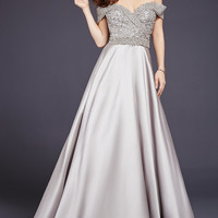Stone Off the Shoulder Ballgown 32779