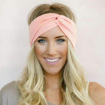 Twist Elasticity Turban Headbands for Sports and Yoga- Hair Accessory with a Twist
