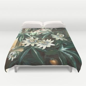 Passion for Passiflora Duvet Cover by anipani
