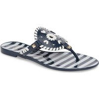 JACK ROGERS 'Georgica' Jelly Flip Flop Midnight/White $39