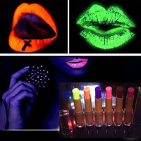 Super Cool 6 Colors Glow In The Dark Lipsticks