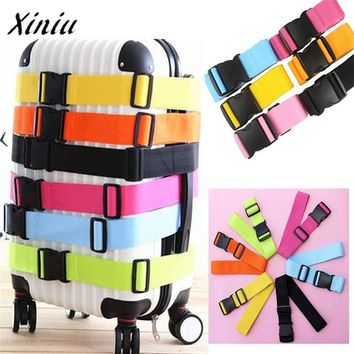 New Hot Sale Adjustable Bag Strap Suitcase Luggage Straps Travel Buckle Baggage Tie Down Belt Lock Bag Luggage Parts Accessories