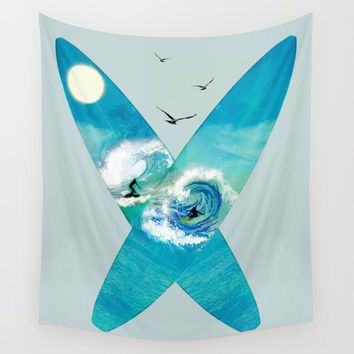 Surfboards Wall Tapestry by nadja1