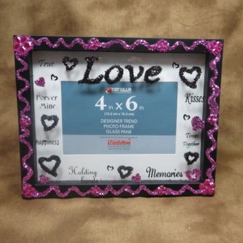 Love Frame - Black Frame - Black Picture Frame - 4x6 Frame - Black Photo Frame - Xmas Gift Ideas - Gifts Under 20 - Gifts For Parents