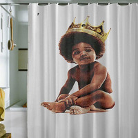 "Big notorious  shower curtain by holidayshowercurtain size 36"" x 72"", 48"" x 72"", 60"" x 72"" , 66"" x 72"""
