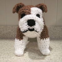 Bulldog Stuffed Animal Crochet Pattern by ScareCrowOriginals