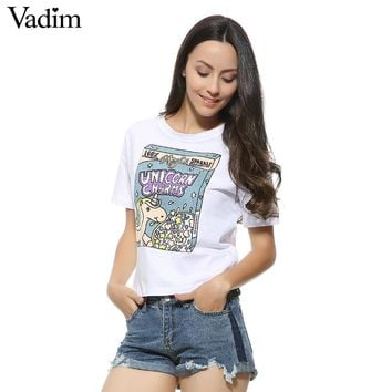 Women letters print basic T shirts sequined white black short sleeve tops summer O-neck tees casual short tops DT397
