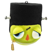 Halloween FRANKIE HEAD ORNAMENT Resin Frankenstein Zippered Mouth 67967
