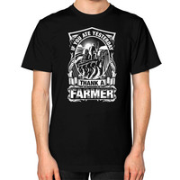 THANK A Farmer Unisex T-Shirt (on man)