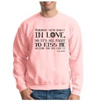 THE HUNGER GAMES 2012 Remember We are in Love Quote CREWNECK odds favor MOCKINGJAY DISTRICT 12 CREWNECK Sweatshirt