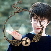 Harry Potter Quidditch Golden Snitch Pocket Wings Bracelet