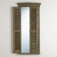 Gray Gianna Shutter Mirror - World Market