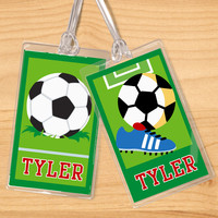 Soccer Boys Personalized Name Tag Set by Olive Kids