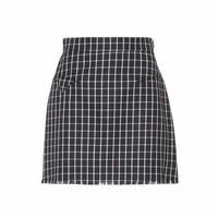 Checked wool skirt