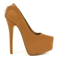 Fahrenheit Erin-02 High Heel Platform Pumps in Tan @ ippolitan.com