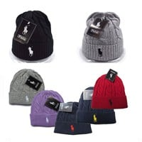 Winter Warm Comfortable Soft Knitted Polo Beanie CZAPKI ZIMOWE RALPH LAUREN [2974244202]