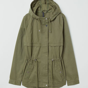 Short Cotton Parka - Dusty rose - Ladies | H&M US