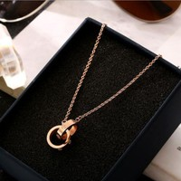 PEAPYV2 Cartier Women Fashion Plated Necklace Jewelry