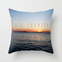 Lose Yourself Throw Pillow by Jamie Danielle