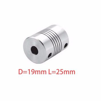 Hot sale 4pcs D19L25 CNC Motor Jaw Shaft Coupler Flexible Coupling OD 19x25mm wholesale Dropshipping 4/ 5/6/6.35/8/9.5/10/12mm