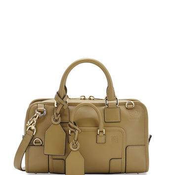 Loewe Amazona 28 Leather Shoulder Bag, Olive