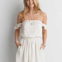 AEO Off-the-Shoulder Fit & Flare Dress , White