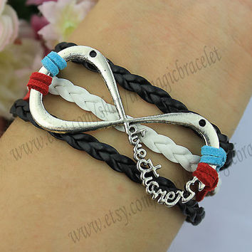 "One Direction Infinity Bracelet forever ""Directioner"" Infinite 1D Boy Band The best gift,charm bracelet,friendship bracelet"