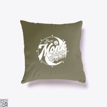 Monk Fantasy Rpg Gm Dungeon Game Master, Dragon And Dungeon Throw Pillow Cover