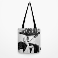 vogue; Tote Bag by Pink Berry Patterns