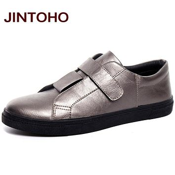 New Men Leather Shoes Designer Flats Casual Leather Moccasins Black Men Loafers Casual Men Footwear Shoes
