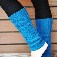 Nice And Cozy Leg Warmers: Carribean Blue | Hope's