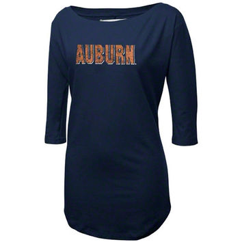 Auburn Tigers Women's Navy Blue Boatneck Tunic