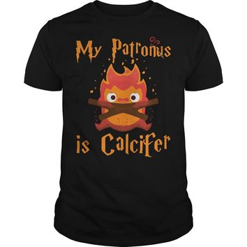 My patronus is Calcifer shirt Premium Fitted Guys Tee