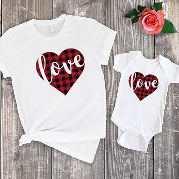 Mommy + Me (Son or Daughter) matching Love Tees