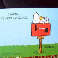 Vintage Greeting Cards- Unused- Snoopy/ Peanuts Hallmark Cards 1965