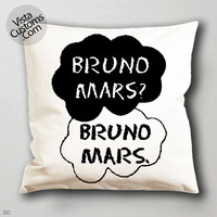 bruno mars quotes13  pillow case, cover ( 1 or 2 Side Print With Size 16, 18, 20, 26, 30, 36 inch )