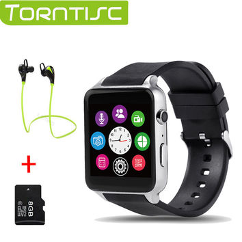 Torntisc GT88 Bluetooth Smartwatch phone Wrist Smart Watch Heart Rate Monitor Support TF SIM Card for apple IOS Android OS