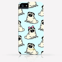 Cute Pug Dog Pattern iPhone 4/4s iPhone 5/5s Case