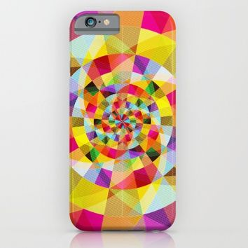 Colorful Abstract Swirly Tune Design (Fancy Fresh And Modern Hippy Style) iPhone & iPod Case by Jeanette Rietz