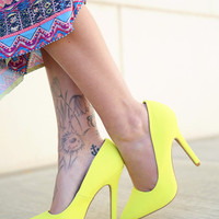 walk my way pumps - yellow