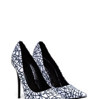 Stick It To 'Em Pointy Printed Heels